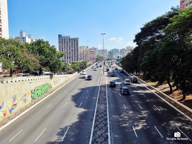 Vista ampla do Viaduto Júlio de Mesquita Filho - Bela Vista - São Paulo