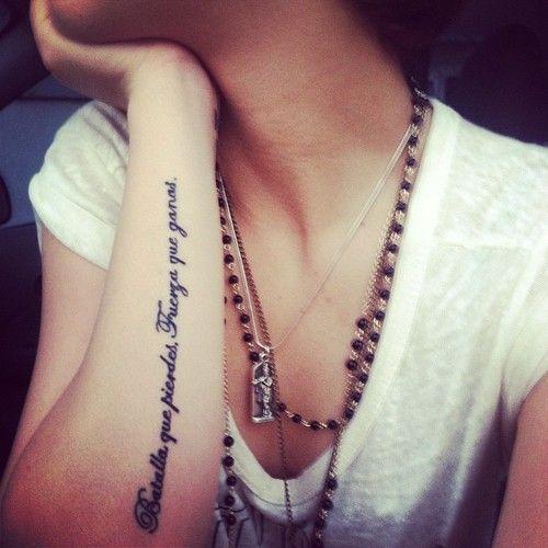 Tatuajes para antebrazo frases