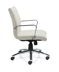 White Ribbed Back Conference Chair