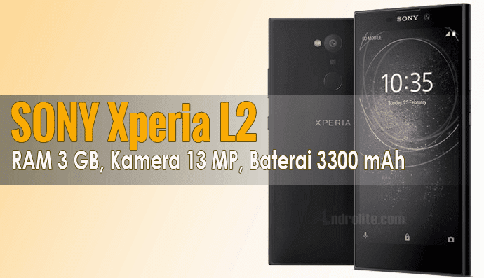 Harga Sony Xperia L2 2018 – 3Gb Ram / 32Gb Storage, Kamera 13Mp