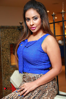 Telugu Actress Srilekha Reddy Latest HD Pos in Sleeveless Blue Top at Muse Art Gallery  0086.JPG