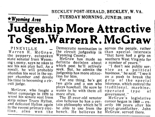 McGraw Brothers in the News on the Same Day - June 29, 1976