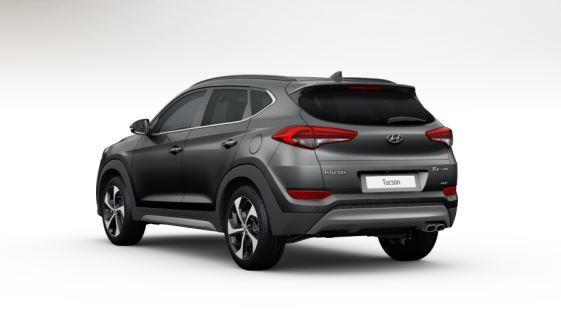 colori Nuova Hyundai Tucson 2016 Grigio Intermedio - Micron Grey dietro retro posteriore
