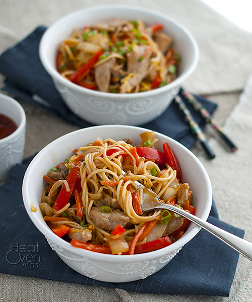 Sweet and Spicy Pork with Noodles