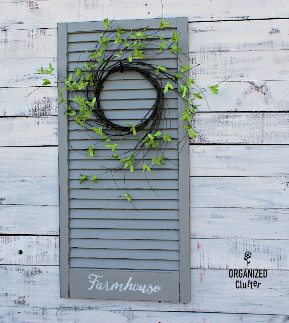 Garage Sale Window Shutter Repurpose