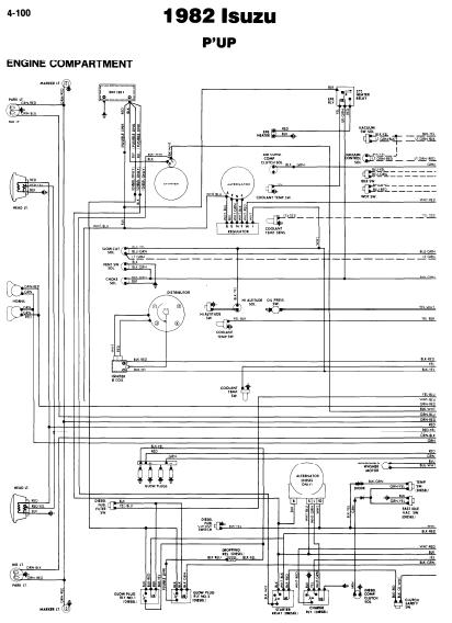 Isuzu P U0026 39 Up 1982 Wiring Diagrams
