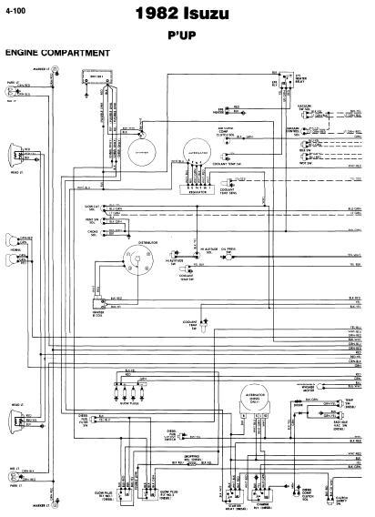 repairmanuals: Isuzu P'UP 1982 Wiring Diagrams