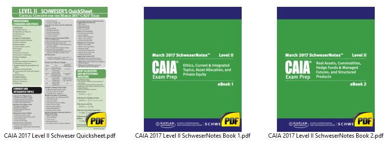 CAIA 2017 LEVEL 2 - Finance Exam