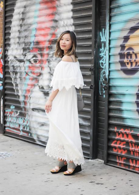 Romantic Off the Shoulder Maxi Dress