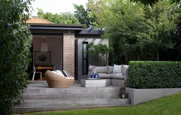 Частный двор, дизайн