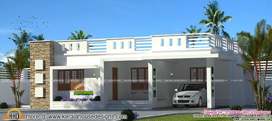 One floor flat roof home 1566 sq-ft