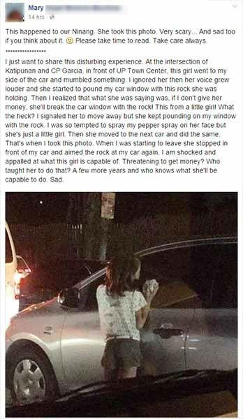 girl at katipunan, UP Town Center smash car