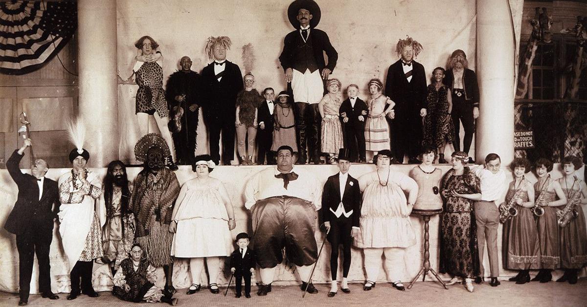 show de aberrações, freak show, irmãos irgling, circo