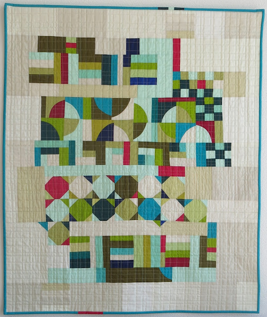 Luna Lovequilts - Déconstruction - A finished quilt made following Score #4 in Sherri Lynn Wood book