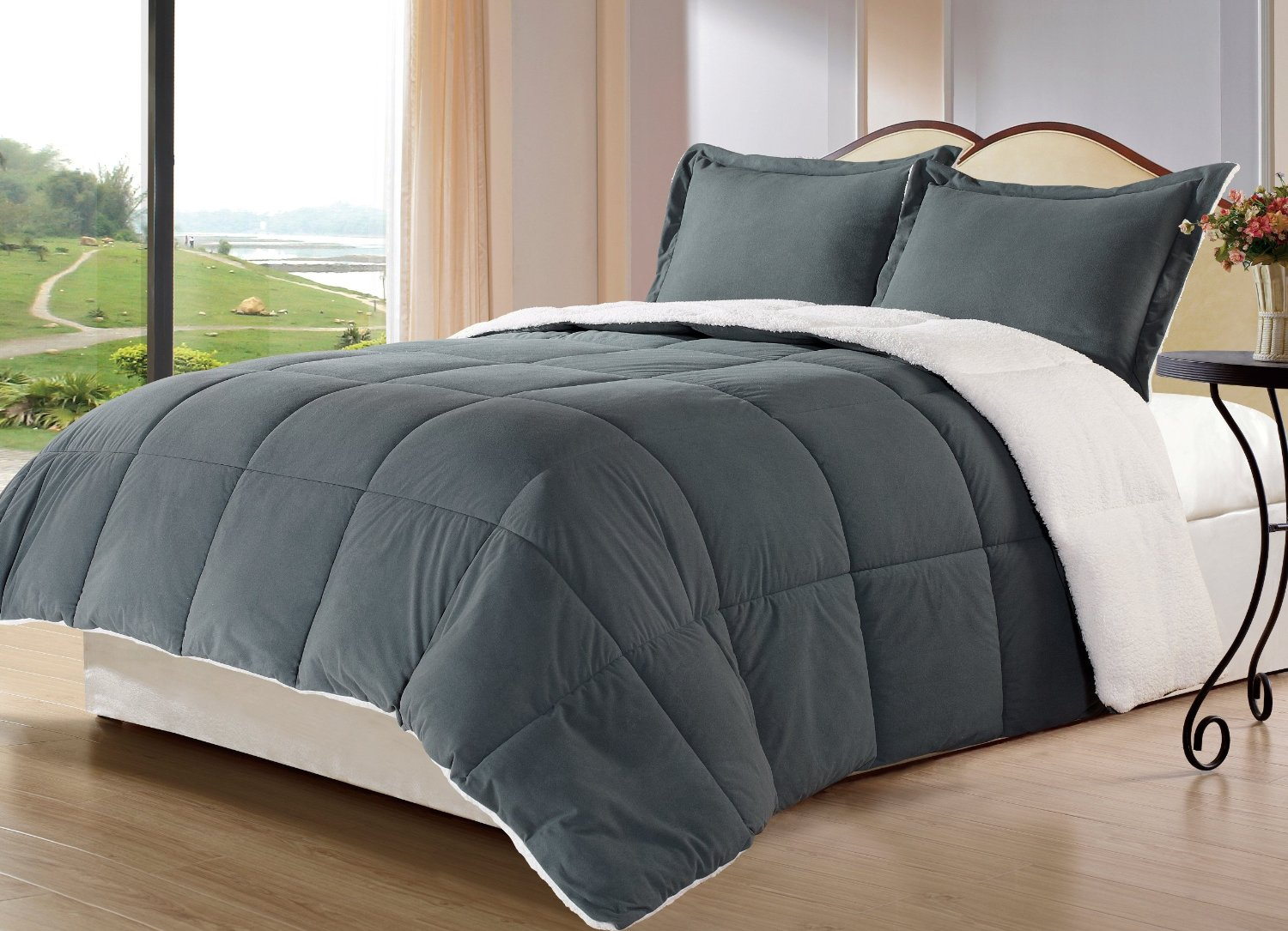 Total Fab Charcoal Grey forter & Bedding Sets