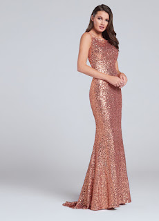 sequined mermaid prom dress