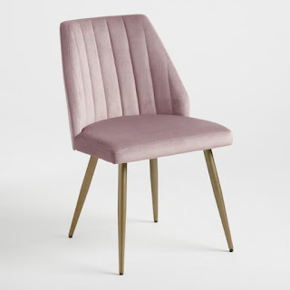 blush mid-century modern accent chair for small spaces