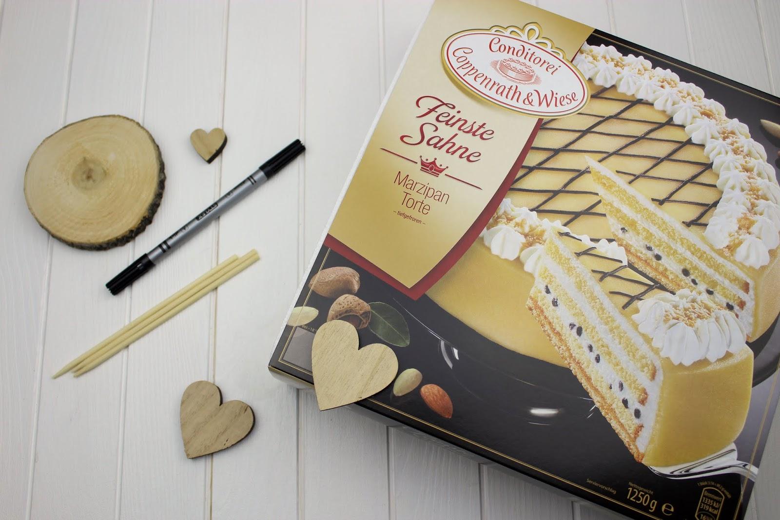 DIY - 3 Cake Topper für die Hochzeitstorte ganz einfach selber machen + gratis Vorlage - mit Coppenrath & Wiese - Astscheibe Initialien