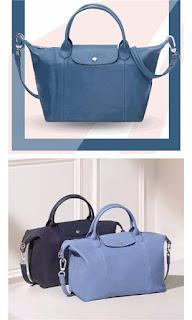 Online Discount Light Longchamp Embroidered Backpack Deep Blue