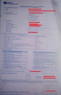 bpjs ketenaga kerjaan formulir pencairan