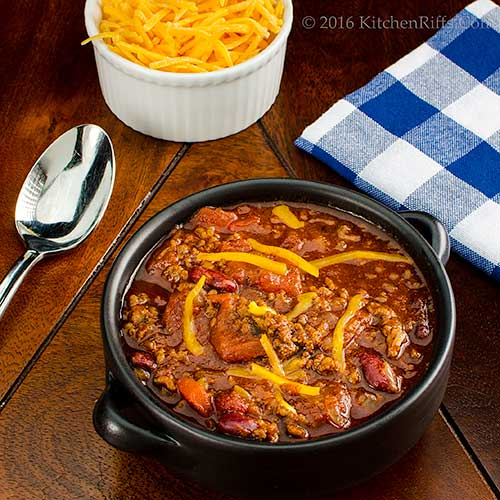 Slow Cooker Homestyle Chili