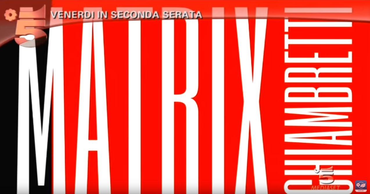 Canzone Matrix pubblicità con Chiambretti, programma TV Venerdì 25 Novembre, 23.20 su Canale 5
