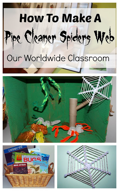 How To Make A Pipe Cleaner Spiders Web Craft