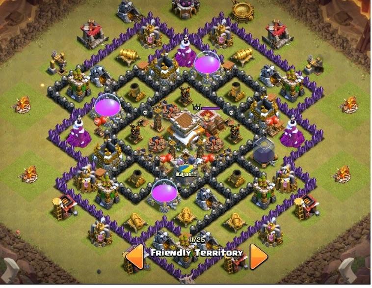 Design Base Clash Of Clans Terbaik War Base Terkuat Farming Base Coc