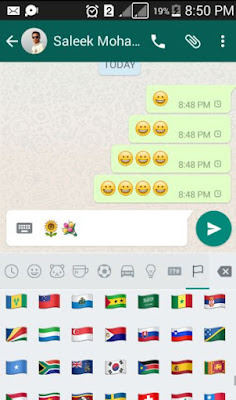 New emoticon smilies on whatsapp