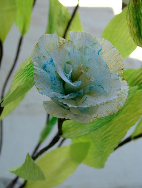 fiori di carta per centrotavola, matrimonio ecologico