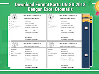 Download Format Kartu UN SD 2018 Dengan Excel Otomatis