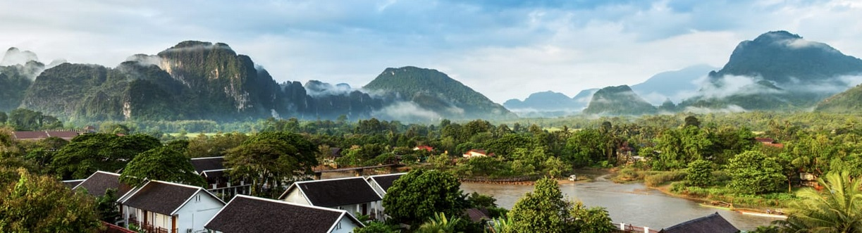 panoramic view vang vieng laos
