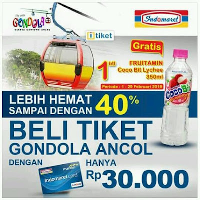 Promo Indomaret Beli Tiket Gondola Ancol Lebih Murah