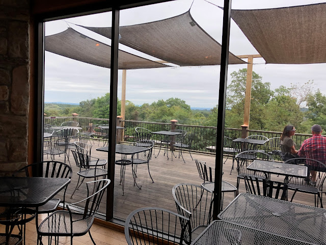 View of the deck at Hauser Estates Winery in Adams County Pennsylvania