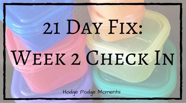 21 Day Fix: Week 2 Update