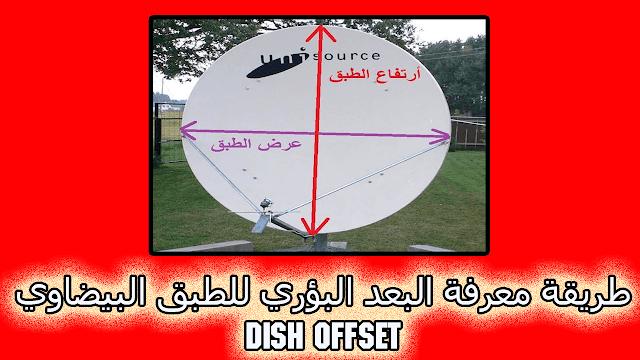 طريقة معرفة البعد البؤري للطبق البيضاوي dish offset