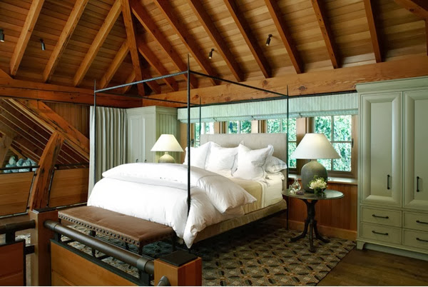 sloped ceiling bedroom ideas | decorating and design ideas