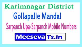 Gollapalle Mandal Sarpanch Upa-Sarpanch Mobile Numbers List Karimnagar District in Telangana State