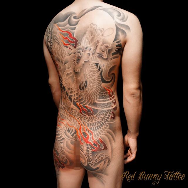昇り龍 刺青 タトゥー  japanese tattoo