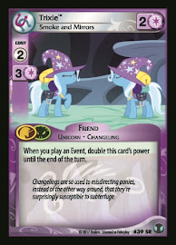 My Little Pony Trixie, Smoke and Mirrors Defenders of Equestria CCG Card