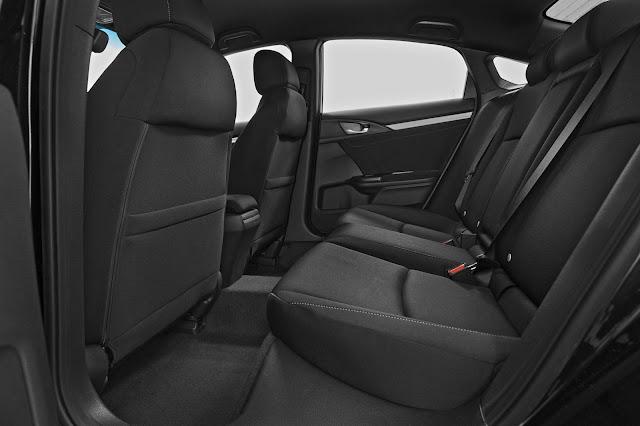 Novo Honda Civic 2017 - interior - espaço traseiro