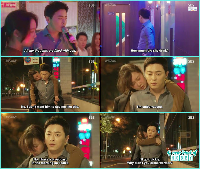 hwa shin piggy back ride to na ri to the dorms - Jealousy Incarnate - Episode 8 Review