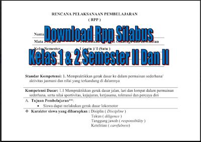 Download Rpp Silabus Penjaskes Kelas 1 dan 2