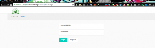 NTI Register as a new user