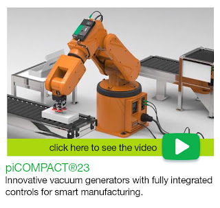 piCOMPACT 23 - innovative vacuum generators with fully integrated controls for smart manufacturing.