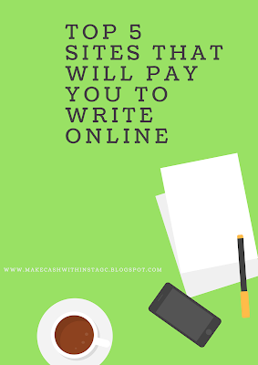 top 5 sites that will pay to write online