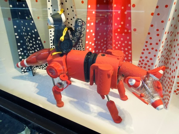 Peter Jones Christmas window display fox