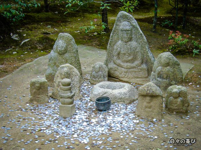 Jeu lancer de pièces, jardin du Ryoan-ji, Kinkaku-ji,Kyoto