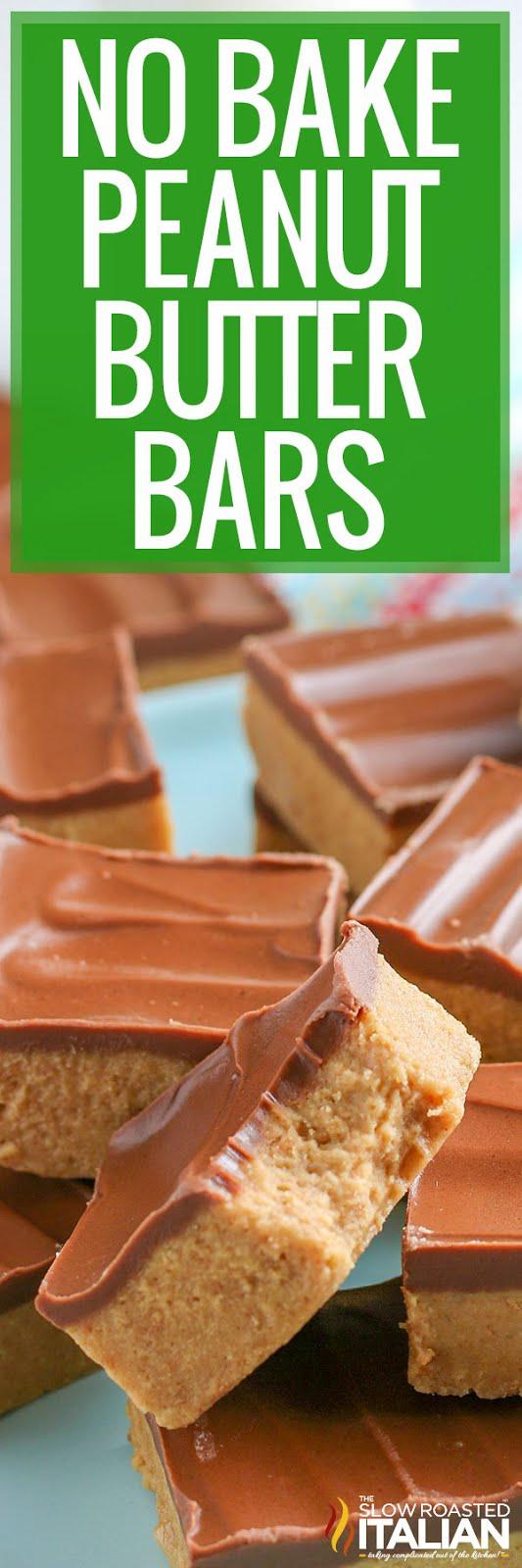 titled Pinterest image of no bake peanut butter bars
