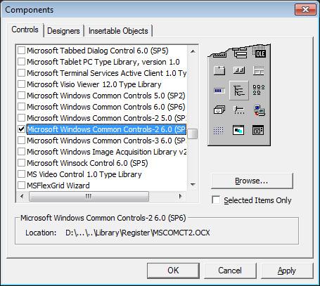Menggunakan Komponen MonthView Pada Input Textbox Jenis Tanggal